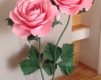 Paper flowers with stems etsy giant paper flower stem paper flowers lagre paper flowers stand with flowers flowers for stems stemed paper flowers giant standing flowers mightylinksfo