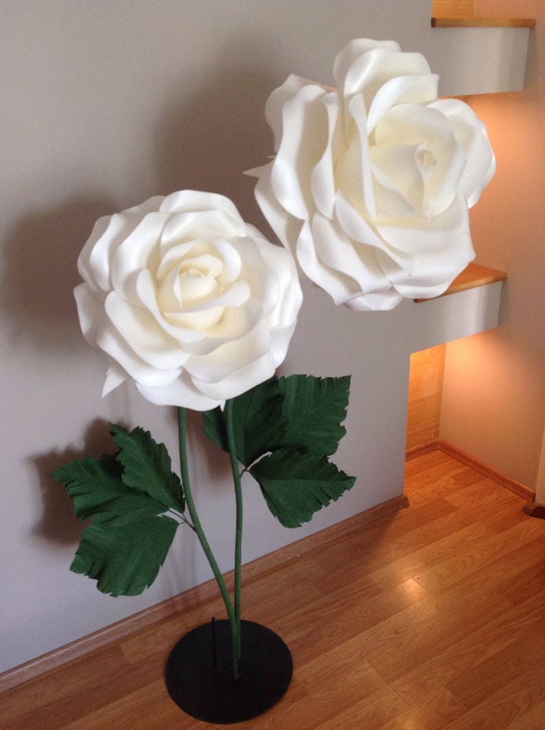 ec379907ef7e Giant Paper Flowers Izolon Flowers With Stems Large Paper
