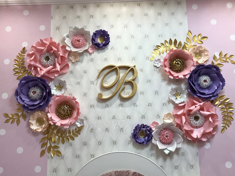 Paper Flowers Wall Decor Large Paper Flowers Decor Giant Paper Flowers Nursery Flowers Decor Nursery Wall Decor