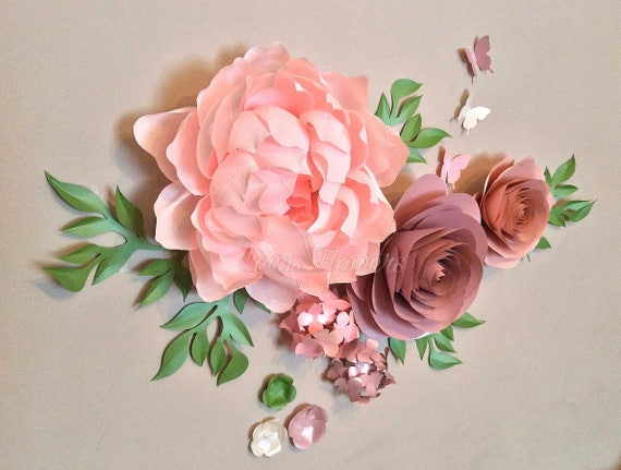 Nursery Flowers Decoration/Crepe Paper Flowers/Large Paper   Etsy