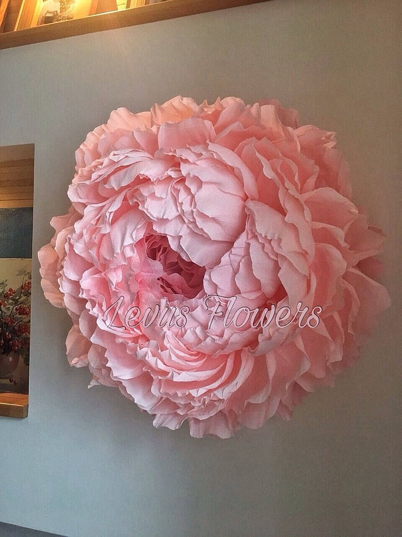 Large Crepe Paper Flowers Giant Paper Flowers Wedding Decoration Home Decor Wall Decor Large Paper Flowers Large Peony Backdrob Flowers
