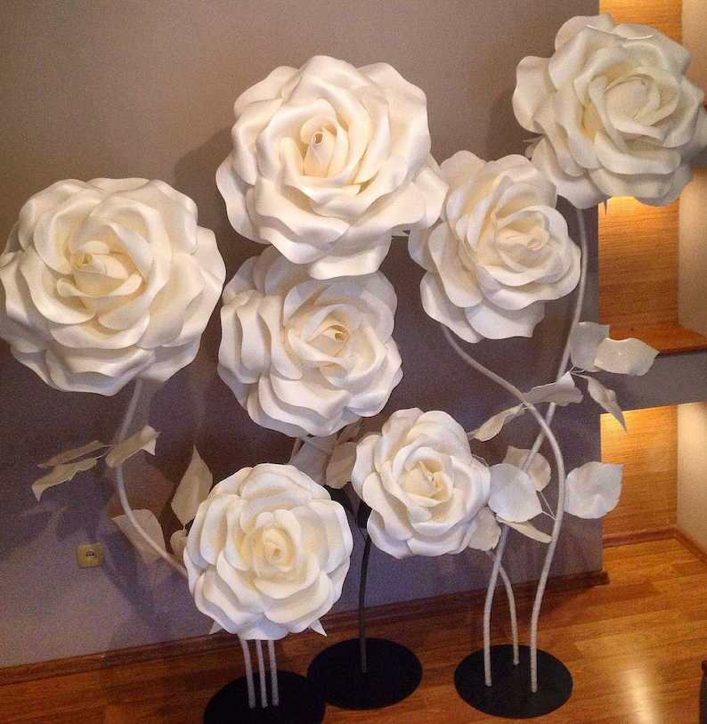 Large Flowers Giant Paper Flower Big Flowers Wedding Decoration Stand With Flowers Flowers Wiht Stem Standing Flowers Stemmed Flowers Izolon