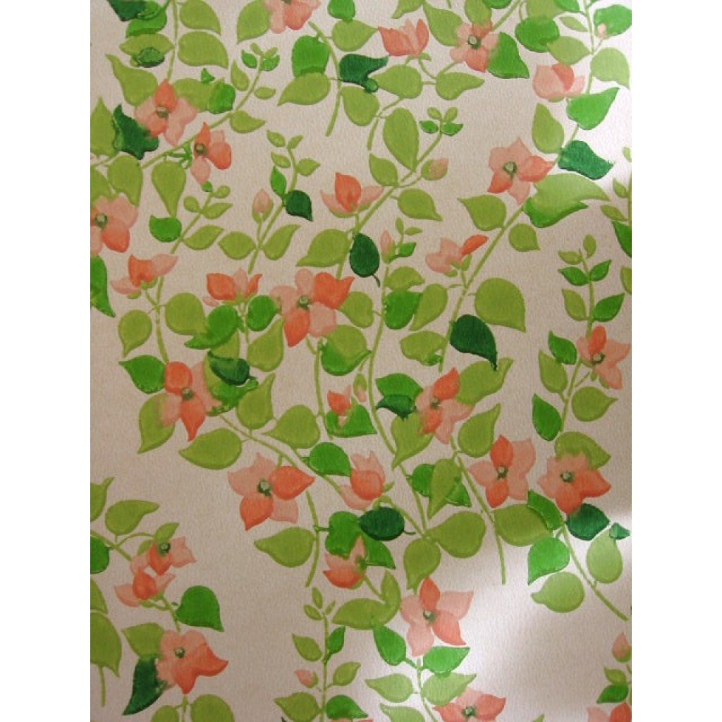 Vintage Wallpaper Price By The Roll 60s Retro Wallpaper Etsy