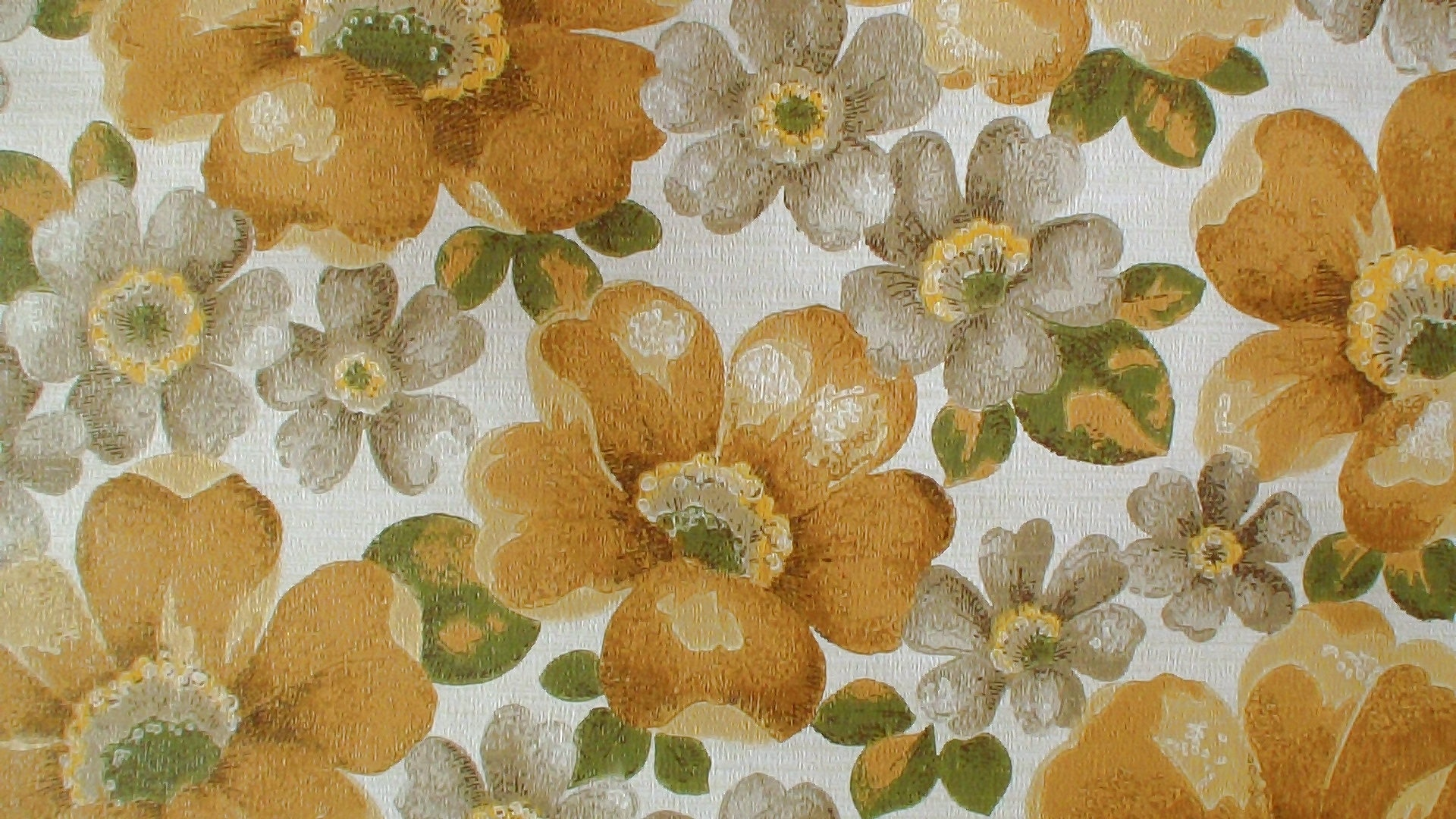 Vintage Wallpaper Price By The Roll 70s Retro Wallpaper Etsy