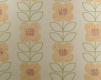 Vintage Wallpaper  by the Metre  - 70s  Wallpaper - Geometric 70s flower  vintage Vinyl Wallpaper   cas 41