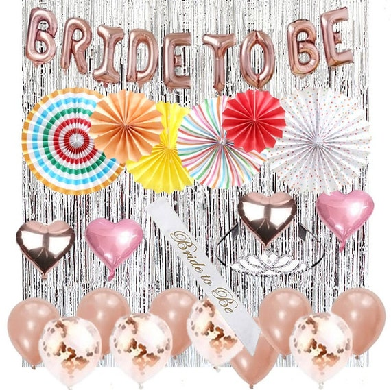 Silver Glitter Bride Shower Package Bachelorette Party Decorations Kit Bridal Shower Decoration Set Hen Party Set