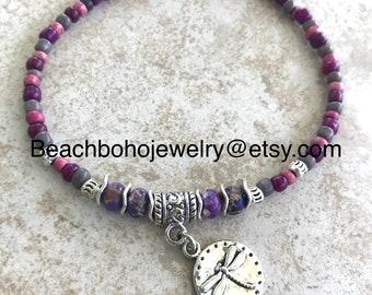 Ankle Bracelet, Dragonfly Anklet, Womans Anklets, Boho Anklet, Anklets For Women, Beaded Anklet, Beach Anklets, Anklets, Beach Jewelry
