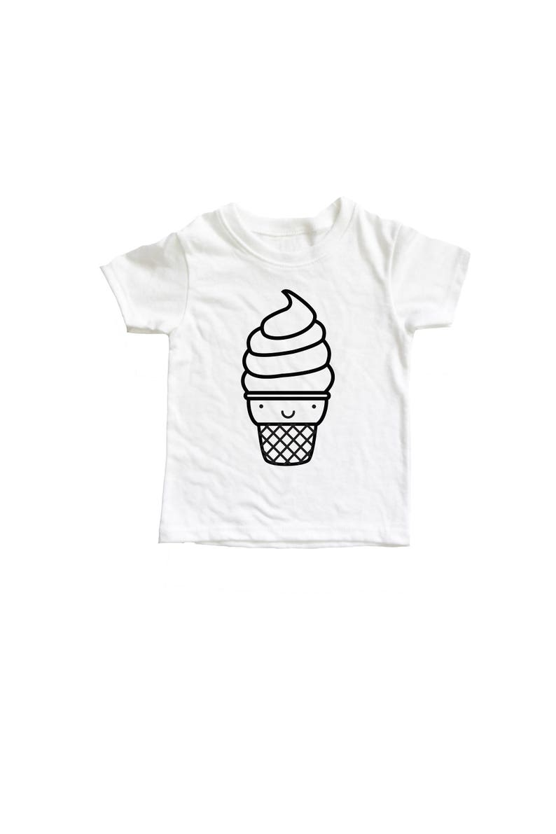 Kawaii Ice Cream kids Shirt Soft serve tee shirt millennial image 0
