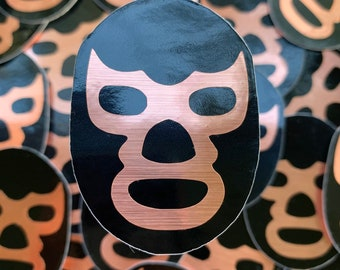 Luchador luchadora Mexican wrestler sticker decal mask blue demon