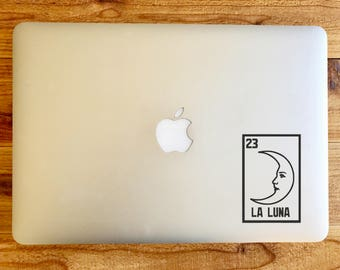 La Luna the moon loteria sticker decal for macbook mac laptop