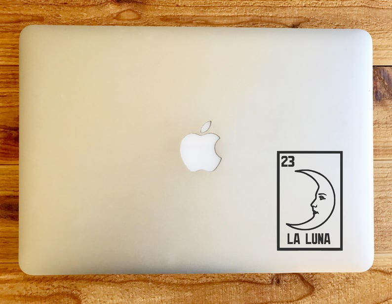 62b6067bb La Luna the moon loteria sticker decal for macbook mac laptop