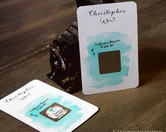 Customizable wedding scratch card request witness/ Bridesmaid/honour boy/original emotion surprise EVJF announcement