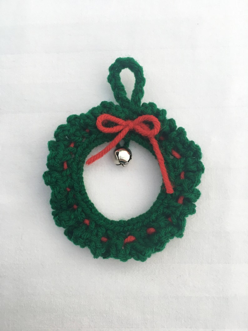 Crochet Christmas Wreath Crochet Wreath Ornament Christmas Etsy