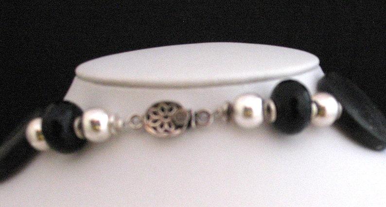 MARIPOSA NEGRA Bold matt and polished black onyx and silver dramatic statement piece