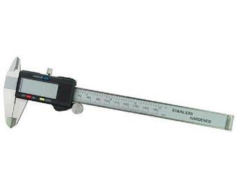 150 mm / 0-6 inch Digital LCD Caliper Vernier ,Kungix Metric Digital Caliper, Stainless Steel Electronic Depth Gauge Measuring Tools