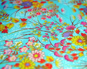 Handmade origami paper - Colourful flowers