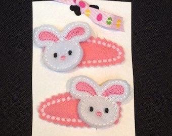 Easter Bunny Hair slides, Easter bunny hair clips, Easter gift for a girl, alternative Easter gift, Easter gift ideas, Easter hair accessory