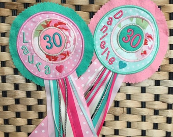 Birthday Rosette, Personalised Badge, Birthday Badge, First 1st Birthday Badge, Cake smash outfit, Cake smash badge, Personalized badge
