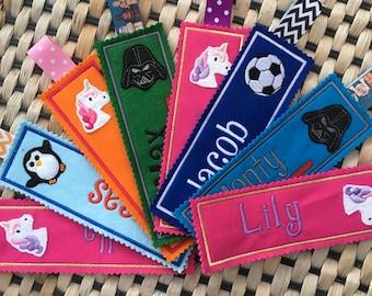 Personalised Bookmark, Customised Bookmark, Stocking Filler