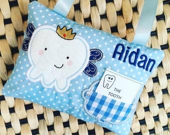 Tooth Fairy Cushion , Toothfairy pillow, Tooth Pillow for Boy, Tooth pillow for a boy, Personalised Tooth fairy pillow, Nursery decor