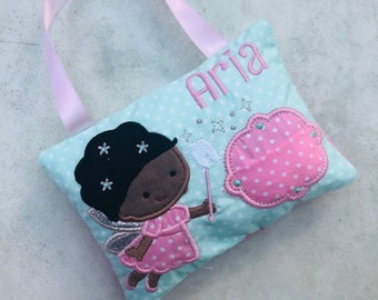 Tooth Fairy Cushion, Tooth fairy pillow, personalised tooth fairy cushion, nursery decor, Tooth pillow, tooth door hanger, ethnic