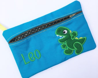 Pencil case, Pencilcase for a boy, Dinosaur theme, personalised pencil-case, personalized customised Pencil pouch, Any Theme, Gift for a Boy