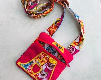 Small Shoulder bag, Zipped bag, Phone bag, Child's bag, Pocket money bag, Travel bag, Themed bag, Passport purse, Personalised Named Bag