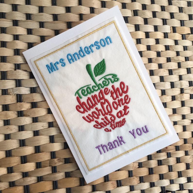 thank you teacher card end of term class card teacher's  etsy