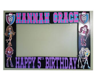 Monster High Photo Booth Frame and Props - Monster High photobooth
