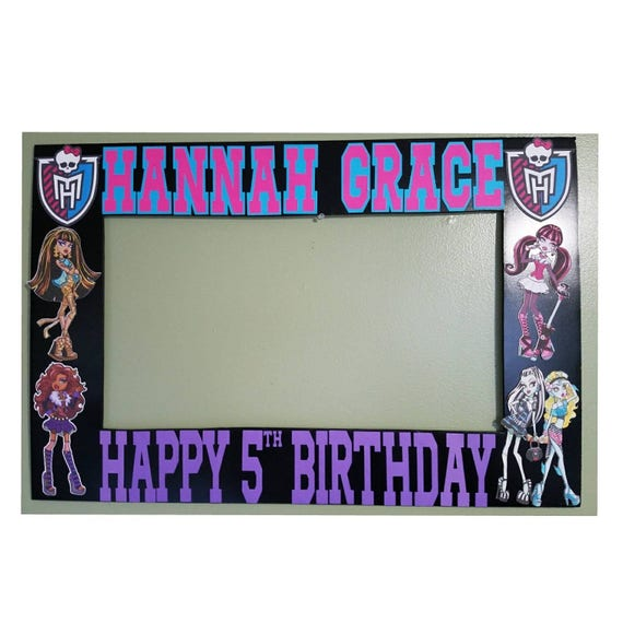 Monster High Photo Booth Frame And Props Monster High Etsy