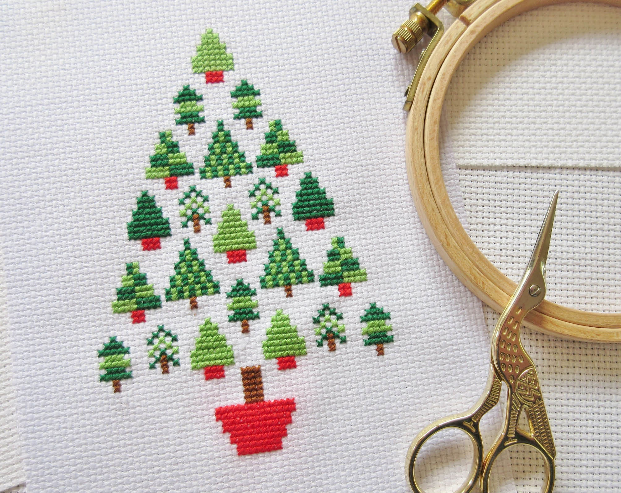 This is an image of Unusual Free Printable Christmas Ornament Cross Stitch Patterns