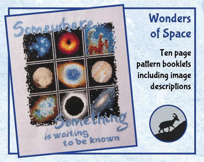 Wonders of Space cross stitch pattern previous stitchalong image 0