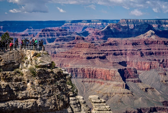 Grand Canyon South Rim Fine Art Print Arizona Wall Decor Grand Canyon Photo Grand Canyon Wall Art National Park Photo Red Blue