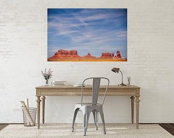Monument Valley Photograph, Monument Valley Print, Desert Print Wall Art, Southwestern Wall Decor, Southwest Landscape Photo, Large Wall Art