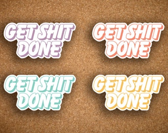 Get Shit Done Outlined BUBBLE Word Header or Label for Inkwell Press Planner IWP-BW4