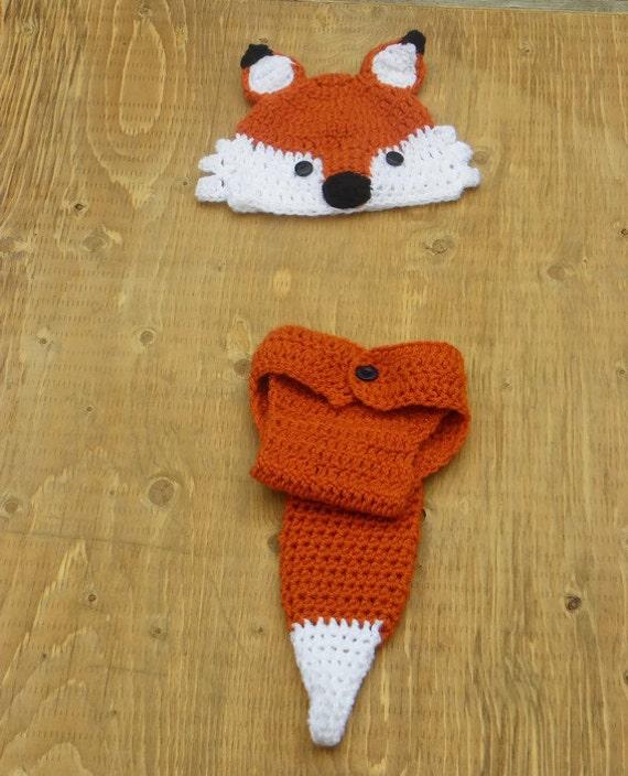 baby fox outfit crochet fox hat newborn photo prop woodland  7c8934da8ba