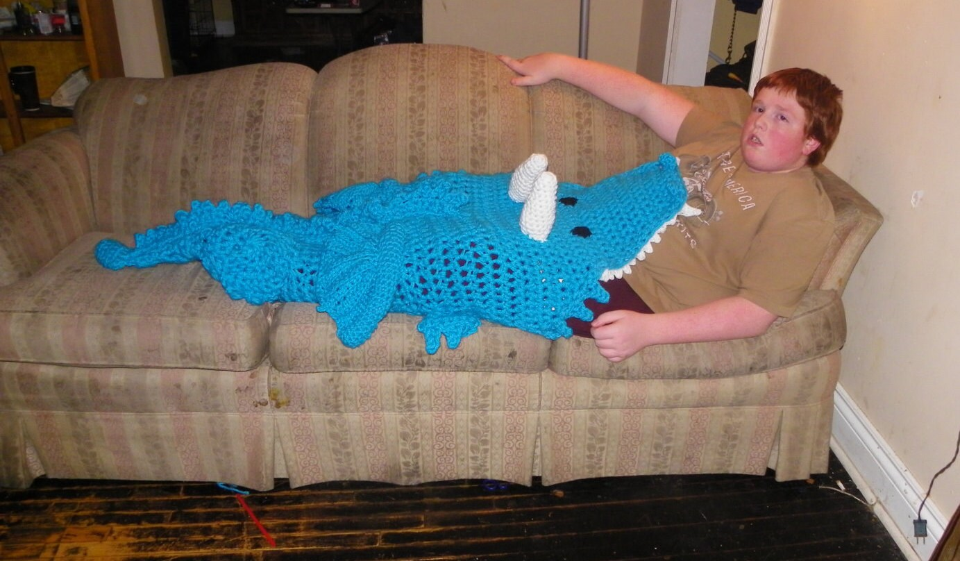 bb7212c711 Crochet Dragon Blanket Cocoon Leg Warmer Crochet