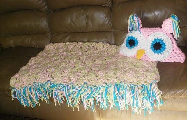 Mit Kapuze Eule Decke Adult Hooded Owl-Decke häkeln mit   Etsy
