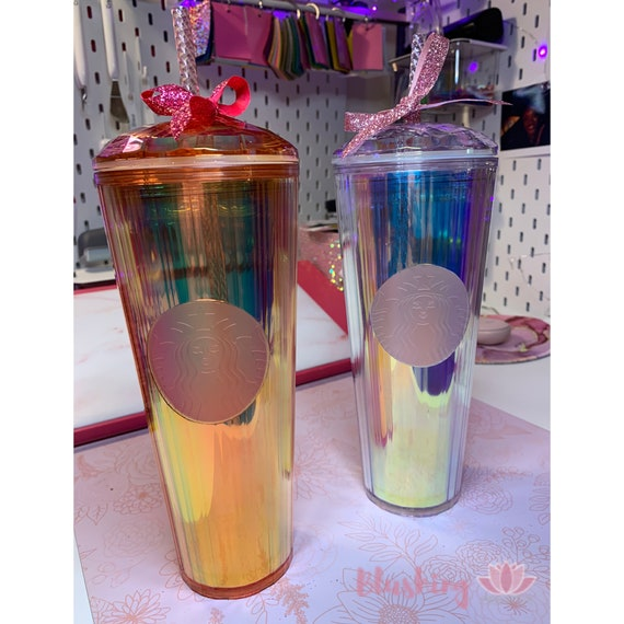 Starbucks tumbler Iridescent Rose Gold 2020 Summer Limited Edition New Fast Shop