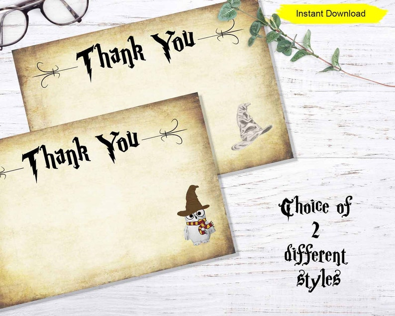 Blank Thank You Card  INSTANT DOWNLOAD  printable digital image 0