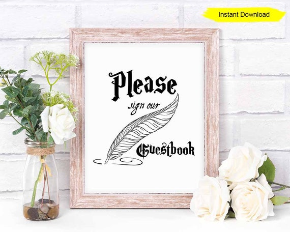 photo relating to Please Sign Our Guestbook Free Printable referred to as Remember to Signal Our Guestbook Indicator - Instantaneous Down load - bridal