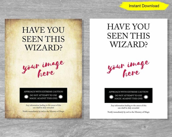 photograph about Have You Seen This Wizard Printable named Include On your own Noticed This Wizard Poster Template Indication - Fast