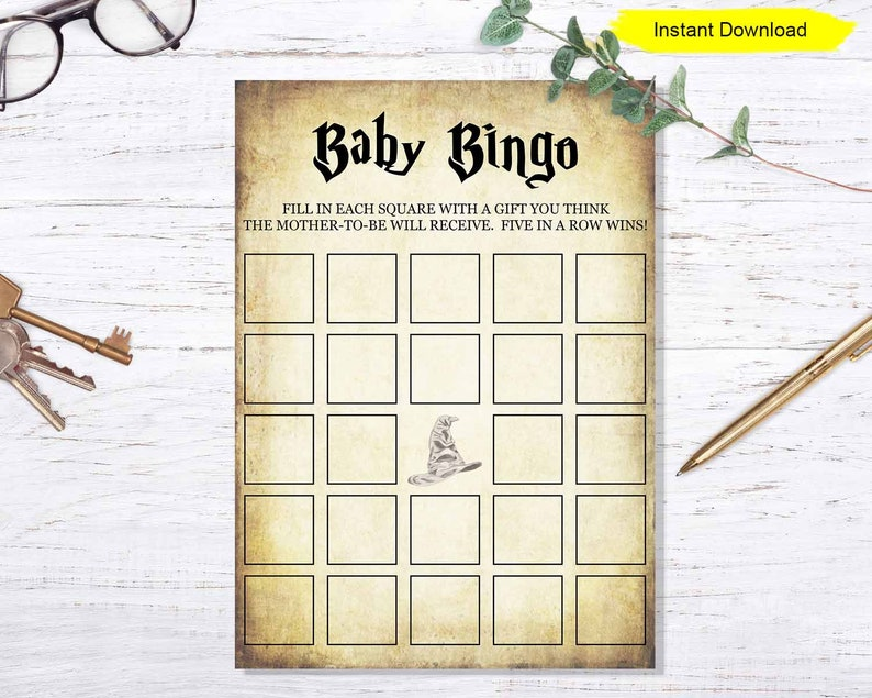 Baby Shower Bingo game  INSTANT DOWNLOAD  baby shower party image 0