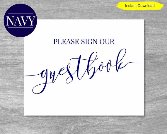 4d1f7012e9116 Please Sign Our Guest book sign print - INSTANT DOWNLOAD - wedding ...