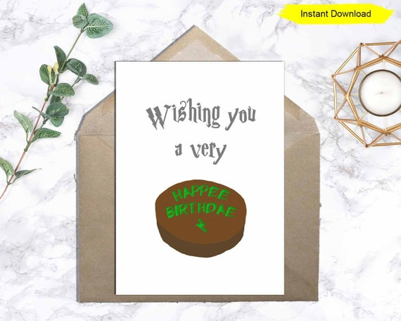 Happy Birthday Card Happee Birthdae Card Instant Download