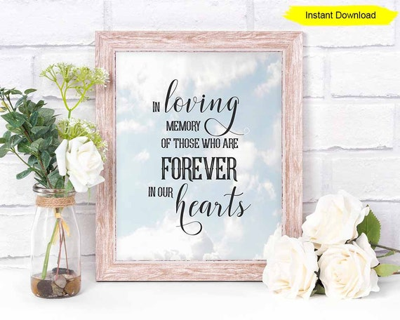In Loving Memory Of Those Who Are Forever In Our Hearts Sign Print