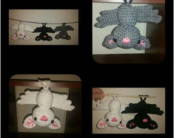 Halloween Bat Decorations, Bats, Halloween Bats, Crochet Bats, Hanging Bats