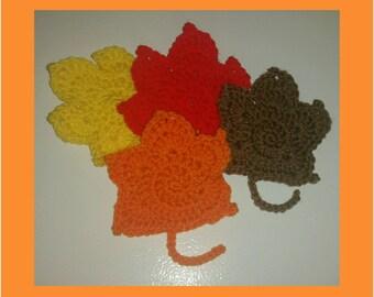 Crochet Fall Leaves, Fall Leaf Table Decorations, Fall Decor Leaf Decorations, Fall Leaves, Fall Decor, Fall Decorations