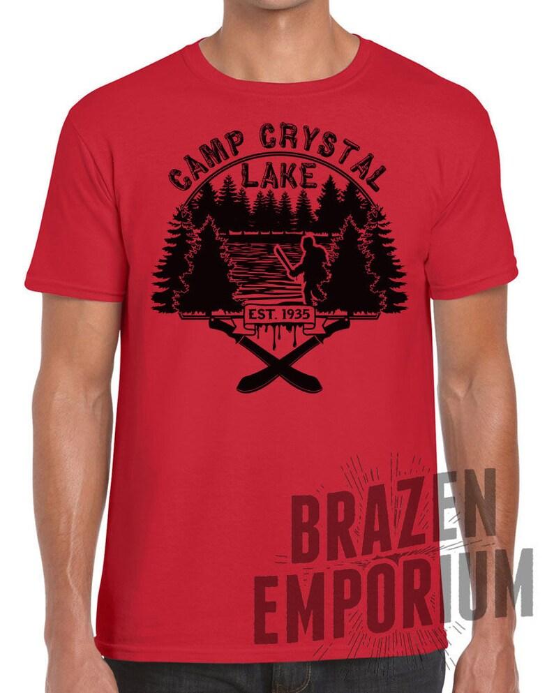4cec7a12f374 Camp Crystal Lake Est 1935 Tee FRIDAY THE 13th Jason