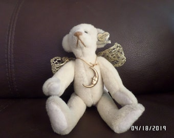 Dolls & Bears Supply Annette Funicello Angel Collection Luna Ivory Plush Bear Street Price